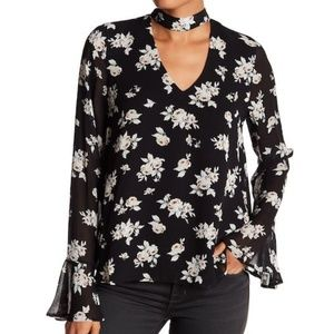New Sanctuary Long Sleeves Floral Blouse